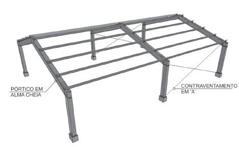 Projeto De Galpao Em Estrutura Metalica Full Estruturas
