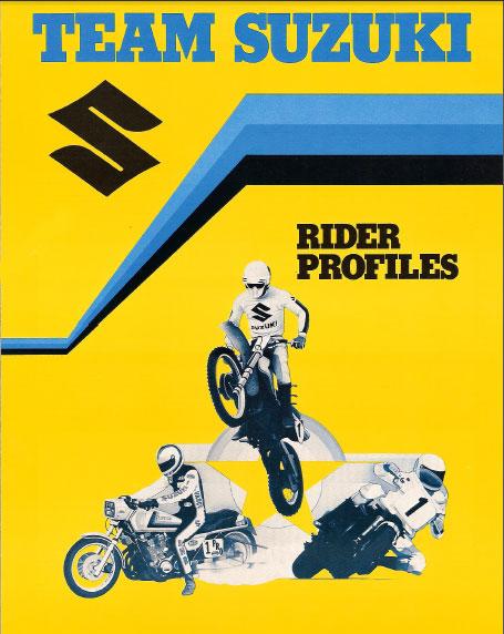 1981 Team Suzuki Rider Profiles