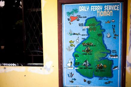 Tioman Map in Mersing