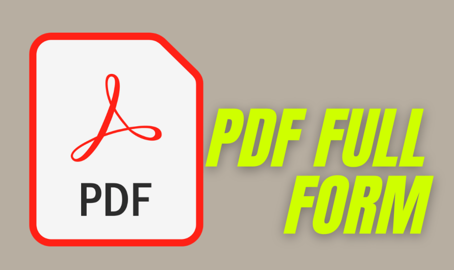 PDF FULL FORM IN HINDI ? PDF KA PURA NAAM