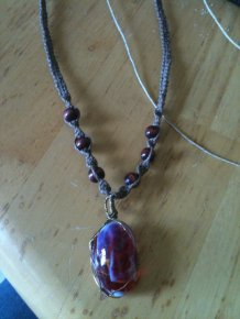 Wire Wrapped Pendant (c) 2012 Full Gamut Workshop