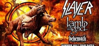 Slayer, Lamb of God, Behemoth Announce 2017 Tour Dates