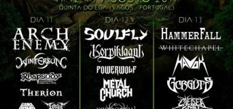 Vagos Metal Festival – Arch Enemy, Soulfly, Havok, Metal Church, Hammerfall, Therion