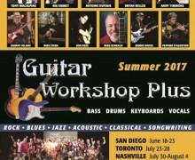 Rik Emmett, Andy Timmons, Tony Macalpine to Teach @ 2017 Guitar Workshop Plus