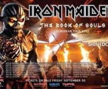 Iron Maiden 2017 UK / European Tour Dates w/ Shinedown + Video Message from Nicko McBrain