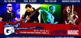 Joe Satriani's G4 Experience 2017 w/ Paul Gilbert, Phil Collen, Warren DeMartini, Stu Hamm