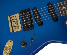 Jake E Lee's Charvel USA Signature Blue Burst Guitar