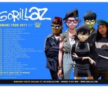 Gorillaz 2017 UK & European Tour Dates w/ Little Simz