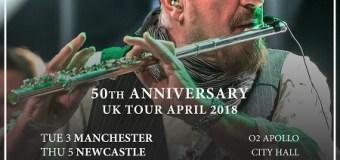50 years of Jethro Tull 2018 UK Tour Dates