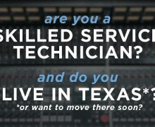 Rupert Neve Designs is Looking for a Skilled Service Tech in Texas