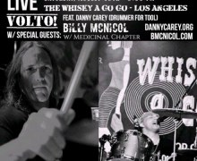 Volto! Featuring Tool Drummer Danny Carey to Play John Ziegler Benefit Show @ Whisky