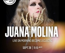 Juana Molina on Morning Becomes Eclectic 9/28