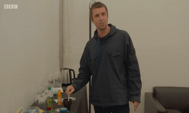 "Liam Gallagher Makes Tea, ""money is tight, too tight to mention"""