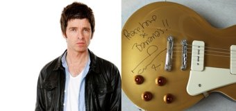 """Noel Gallagher:  Chance to Win Signed Epiphone """"1956"""" LP Standard Goldtop Guitar"""
