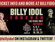 "Billy Idol @ Vegas Residency, ""You will NOT break me, you will NOT break Las Vegas"""
