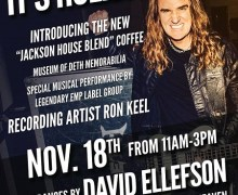 David Ellefson @ Kat's Hog Heaven w/ Ron Keel, Coffee Event