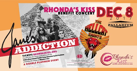 Jane's Addiction L.A. Fundraiser Concert Announced - Rhonda's Kiss, Hollywood Palladium