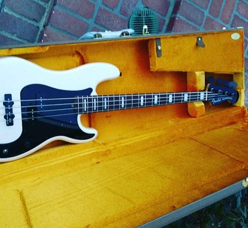 Duff McKagan Working on Fender Prototype Bass - Guns N' Roses