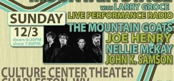 The Mountain Goats @ Mountain Stage Radio Show, Tickets, Charleston, WV