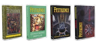 Pestilence Reissues Classic Albums on Cassette – Malleus Maleficarum, Consuming Impulse, Testimony of the Ancients, Sphere