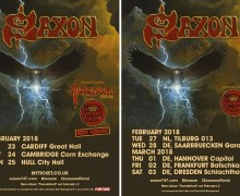 Saxon 2018 UK/Europe Tour – Diamond Head, Rock Goddess, Magnum + Judas Priest Dates