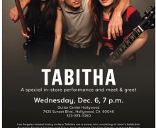 Tabitha @ Guitar Center Hollywood, Band ft. Stephen Perkins of Jane's Addiction & The Okai Sisters
