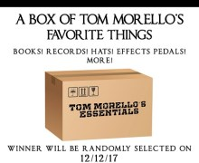"Tom Morello Giveaway, ""Books! Records! Hats! Effects Pedals! Signed Stuff!"""