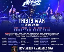 Carmine and Vinny Appice 2018 Tour/Europe/Dates/Germany/Austria/Italy/Poland/Spain