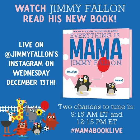 Jimmy Fallon Reading 'Everything is Mama' on Instagram - Children's Book