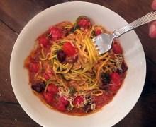 Paul Stanley Puttanesca (No Pasta), Zucchini Spirals, Recipe #2 – In the Kitchen