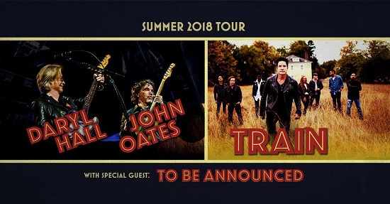 Hall & Oates/Train 2018 Tour Announced, Tickets - Nashville, Montreal, Kansas City, Dallas, Houston, Austin, Los Angeles, San Diego