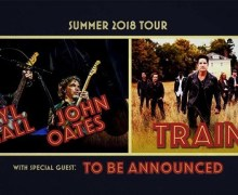 Hall & Oates/Train 2018 Tour Announced, Tickets – Nashville, Montreal, Kansas City, Dallas, Houston, Austin, Los Angeles, San Diego