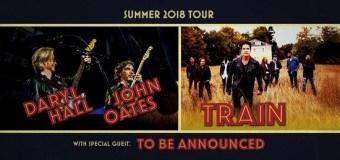 Hall & Oates/Train 2018 Tour Announced, Tickets – Nashville, Montreal, Kansas City, Dallas, Houston, Austin, Los Angeles, San Diego