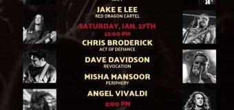 NAMM 2018: Jake E. Lee, Warren DeMartini, Andreas Kisser, Angel Vivaldi @ Jackson & Charvel Booth