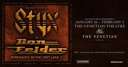 Styx & Don Felder Las Vegas Residency - Eagles
