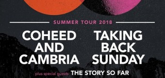 Coheed and Cambria + Taking Back Sunday 2018 Tour Announced – w/ The Story So Far