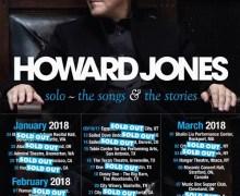 Howard Jones 2018 Tour US/Canada Schedule/Dates/Tickets