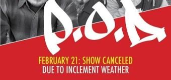 P.O.D. Cancel Houston, TX Show – Cancelled/Reschedule