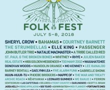 2018 Winnipeg Folk Fest Lineup Announced/Tickets/Sheryl Crow, Bahamas, Courtney Barnett, Waxahatchee, Hiss Golden Messenger, Phoebe Bridgers