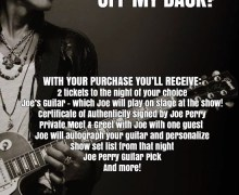 Joe Perry 'Guitar Off My Back' Opportunity – Aerosmith/Hollywood Vampires