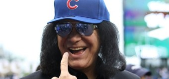 Video:  Gene Simmons Throws First Pitch @ Chicago Cubs vs White Sox Series – KISS