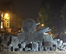 """Paul Rodgers on John Bonham Redditch Memorial, """"What better than to reveal John's statue in the middle of the dark night.  How perfectly Zeppelin."""""""