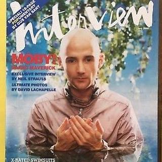 "Moby, ""The end of an era... goodbye Interview Magazine"""