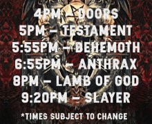Slayer Tour 2018 in San Diego @ Valley View Casino Center w/ Lamb of God, Anthrax, Behemoth, Testament
