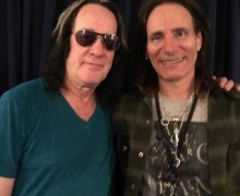 "Steve Vai: ""Got to meet one of my heroes last night at the Utopia concert. Todd Rundgren"""