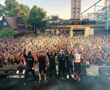"Prophets of Rage: Tom Morello, ""Fractured my playing hand on Thursday. Will be onstage in Sweden Tuesday."" Gröna Lund"