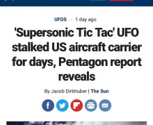 """Tom DeLonge: """"Things are heating up"""" Supersonic Tic Tac UFO"""