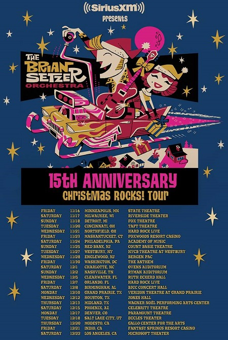 The Brian Setzer Orchestra 2018 Christmas Rocks Tour Announced - 15th Anniversary