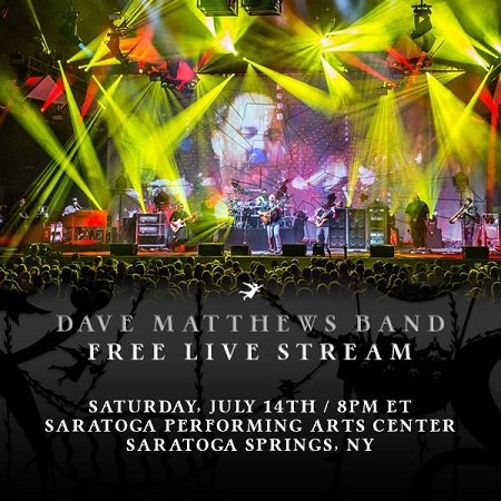 Dave Matthews Band Live Stream Saratoga Springs, NY Concert 2018 - Streaming