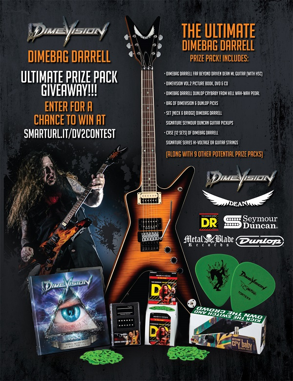 Dimebag Darrell Contest - Chance to Win Dean Guitar, Wah, Pickups, Strings, CD/DVDs - Pantera